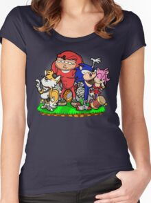 Sanic Bam! Women's Fitted Scoop T-Shirt