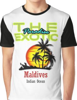 The Exotic Paradise, Maldives Graphic T-Shirt