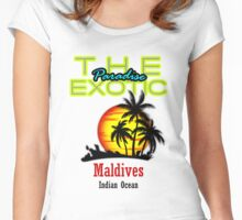 The Exotic Paradise, Maldives Women's Fitted Scoop T-Shirt
