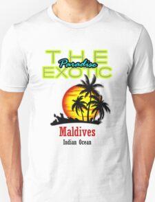 The Exotic Paradise, Maldives Unisex T-Shirt