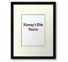 Norway's Elite Warrior  Framed Print