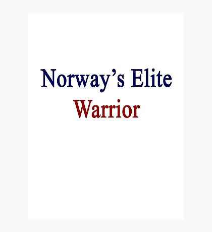 Norway's Elite Warrior  Photographic Print