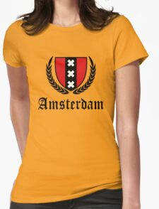 Amsterdam Crest  Womens Fitted T-Shirt