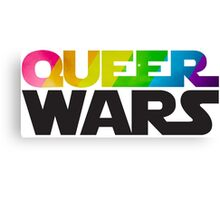 Queer Wars Rainbow Stars Parody  Canvas Print