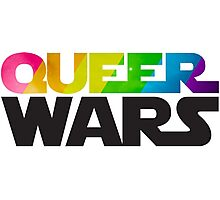 Queer Wars Rainbow Stars Parody  Photographic Print