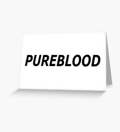 PUREBLOOD Greeting Card