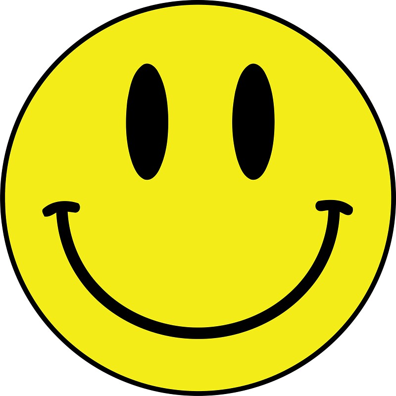 Yellow Smiley Face: Stickers