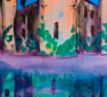 castle reflection Sticker