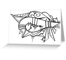 Eye of the Ancients Hand Drawn Abstract Greeting Card
