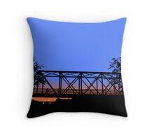 One Tree Hill Bridge Throw Pillow