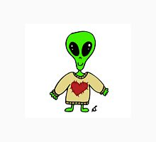 Little Greenie the Alien Discovers Cozy Sweaters! Unisex T-Shirt