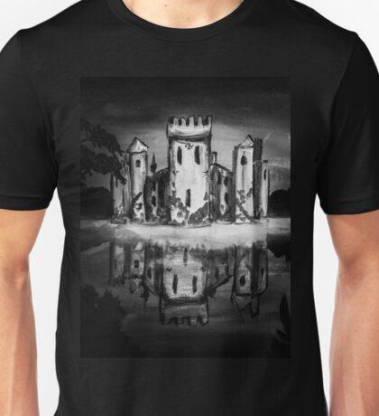castle reflection (black and white) Unisex T-Shirt