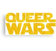Queer Wars LGBT Parody  Canvas Print