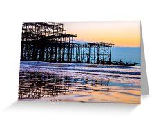 Brighton Low Tide #3 Greeting Card