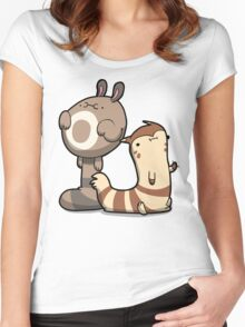 Furry Ferrets Women's Fitted Scoop T-Shirt