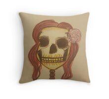 Pin Up skull Throw Pillow