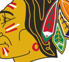 blackhawks old logo Sticker