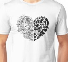 Heart Doodles and Scribbles Unisex T-Shirt