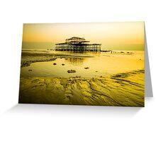Brighton Low Tide #4 Greeting Card