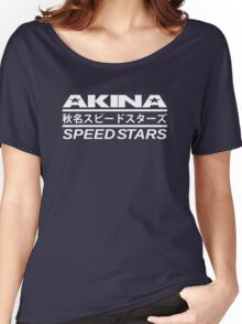 Akina Speed Stars (White) Women's Relaxed Fit T-Shirt