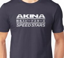 Akina Speed Stars (White) Unisex T-Shirt