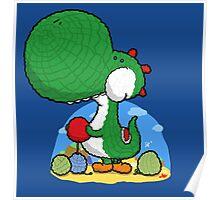 Wooly Egg Chucking Dinosaur Poster