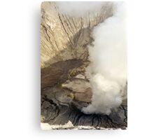 Vintage volcanoe Canvas Print