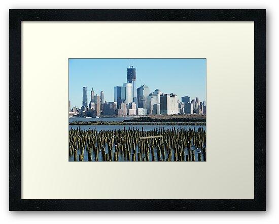 World Trade Center, Lower Manhattan, View from Hoboken, New Jersey by lenspiro