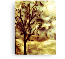 tree in the wind (firelight) Canvas Print