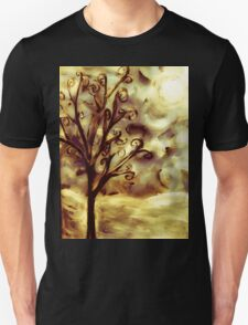 tree in the wind (firelight) Unisex T-Shirt