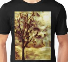 tree in the wind (firelight) Unisex T-Shirt