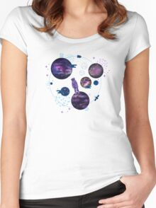 Astronaut Lost in Space Women's Fitted Scoop T-Shirt
