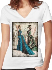 FASHIONABLE LADIES VINTAGE 39 Women's Fitted V-Neck T-Shirt