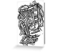 TikiOgre Abstract Zen Design Greeting Card