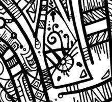 TikiOgre Abstract Zen Design Sticker