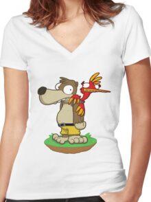 Banjer & Kazooper! Women's Fitted V-Neck T-Shirt