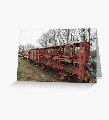 Sheep Transport Rail Wagon Greeting Card