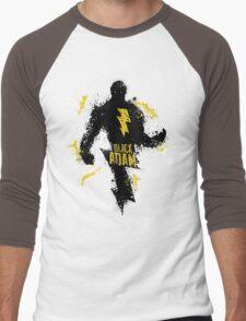 Black Adam Splatter Art Men's Baseball ¾ T-Shirt