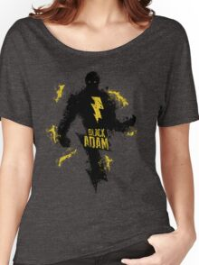 Black Adam Splatter Art Women's Relaxed Fit T-Shirt