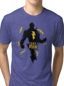 Black Adam Splatter Art Tri-blend T-Shirt