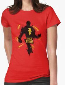 Black Adam Splatter Art Womens Fitted T-Shirt