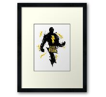 Black Adam Splatter Art Framed Print