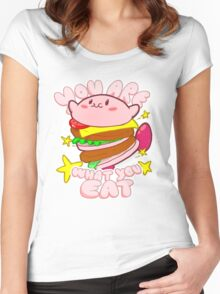 You are what you eat! Women's Fitted Scoop T-Shirt