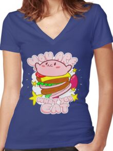 You are what you eat! Women's Fitted V-Neck T-Shirt