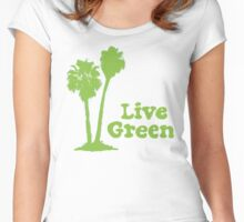 Live Green Women's Fitted Scoop T-Shirt