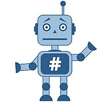 Hashtag robot Photographic Print