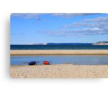 Beautiful day for a paddle Canvas Print