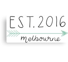 Est. 2016 Melbourne Canvas Print