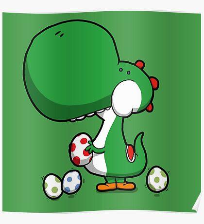 Egg Chuckin' Dinosaur Poster