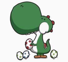 Egg Chuckin' Dinosaur One Piece - Short Sleeve